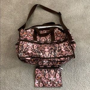 Large Paisley LeSportsac Overnight Bag